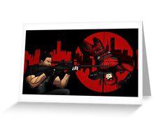 Punisher vs Daredevil Greeting Card