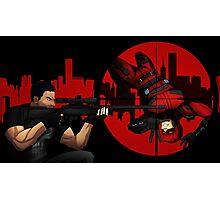 Punisher vs Daredevil Photographic Print
