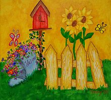 Country Fence and Mailbox by Norma Ramey
