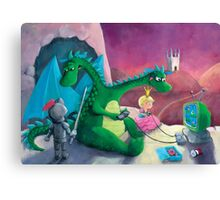 The Knight, The Princess and The Dragon Canvas Print