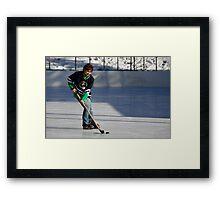 Pond Hockey I Framed Print