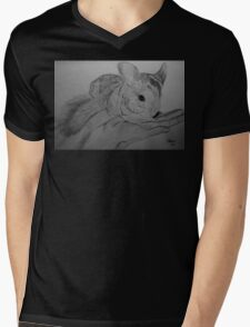 Chinchilla Mens V-Neck T-Shirt