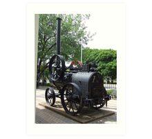 Steam engine. Art Print