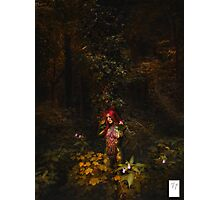 A girl. In Bodypaint. In a Tree. Photographic Print