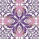 Purple Pink Flourish by webgrrl