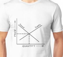 Supply and demand graph Unisex T-Shirt