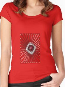 Red Pattern with a ruby  (2738 views) Women's Fitted Scoop T-Shirt
