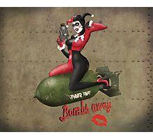 Harley War Pinup Bombshell Photographic Print