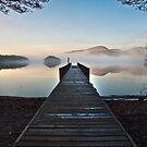 Clearing fog on Coniston water by Shaun Whiteman