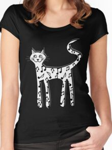 Musical note cat Women's Fitted Scoop T-Shirt