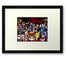 Videogame Popculture Collage Framed Print
