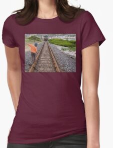 Balancing act Womens Fitted T-Shirt