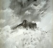 Langdale Pikes painting by LAURANCE RICHARDSON