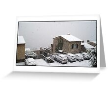 Mantle of snow Greeting Card