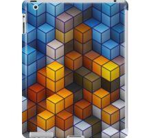 Yellow and blue geometric cubes pattern iPad Case/Skin