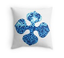 Glacier Bright Brilliant Blue Winter Flower Abstract Throw Pillow