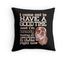 Attack on Titan - Feeling so Attacked Throw Pillow