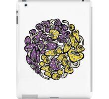 Yin Yang Mushrooms (purple-yellow version) iPad Case/Skin