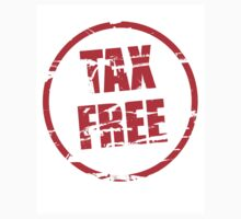 Tax free rubber stamp effect T-Shirt