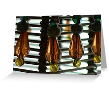 beads on a candle holder Greeting Card