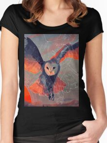 Owl Hunt Women's Fitted Scoop T-Shirt