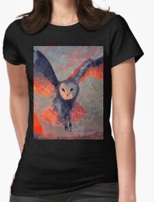 Owl Hunt Womens Fitted T-Shirt