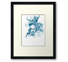 Up in Smoke (blue) Framed Print