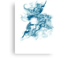 Up in Smoke (blue) Canvas Print