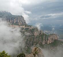 Montserrat in mist by Chris Allen
