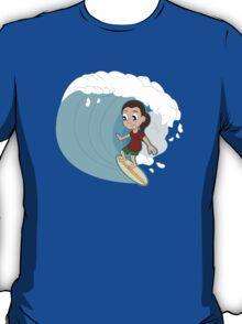 Surfing girl cartoon T-Shirt