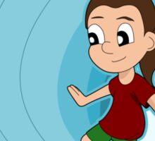 Surfing girl cartoon Sticker
