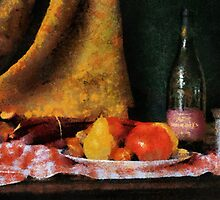 Fruit and Wine - chalk by Gilberte