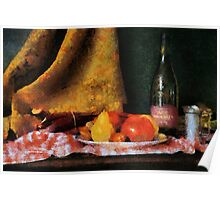 Fruit and Wine - chalk Poster