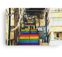 Rainbow steps Canvas Print