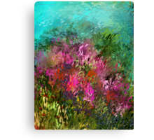 FLOWERS AT WATERS EDGE Canvas Print