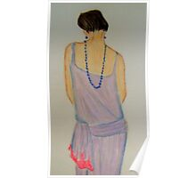 The 20s flapper with beaded necklace  Poster