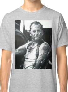 Bruce willis in die hard iconic piece Classic T-Shirt