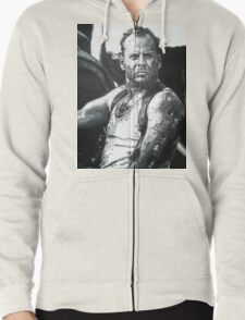 Bruce willis in die hard iconic piece Zipped Hoodie