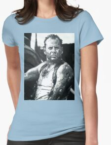 Bruce willis in die hard iconic piece Womens Fitted T-Shirt