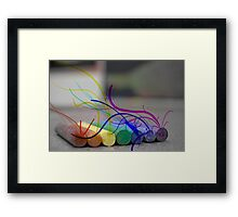 Seeping Colours Into a Dull World Framed Print