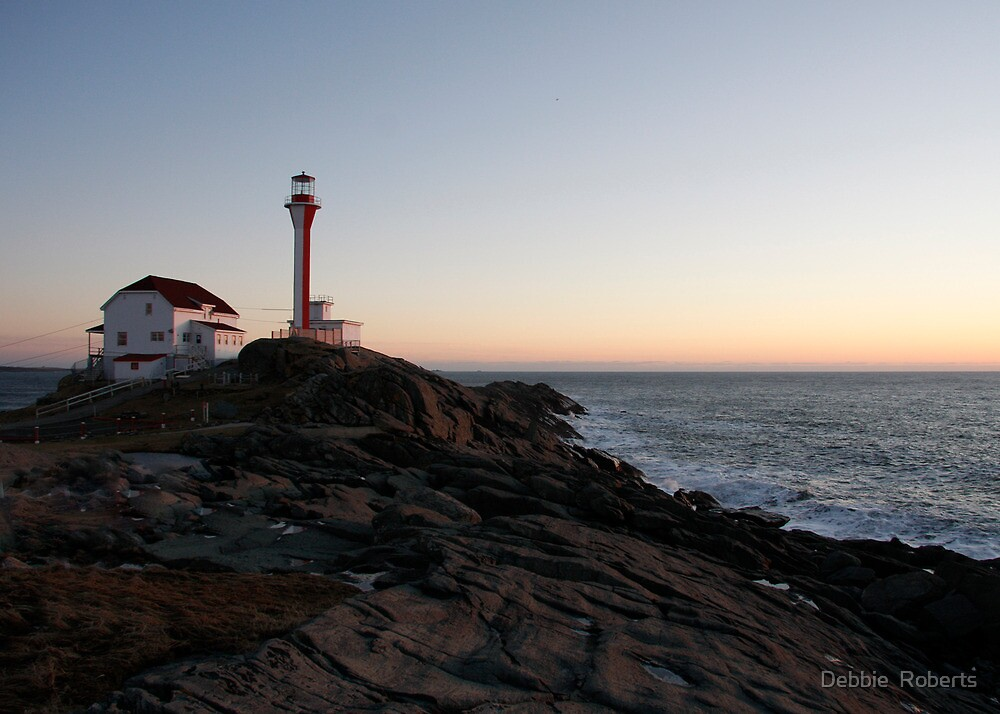 Cape Forchu Lighthouse at Dusk by Debbie  Roberts
