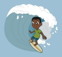 Surfing boy cartoon Kids Clothes