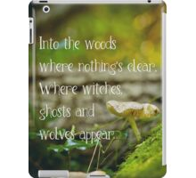 Where witches, ghosts and wolves appear iPad Case/Skin