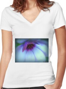 You Light Up My Life............ Women's Fitted V-Neck T-Shirt