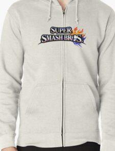 Super Smash Bros Zipped Hoodie