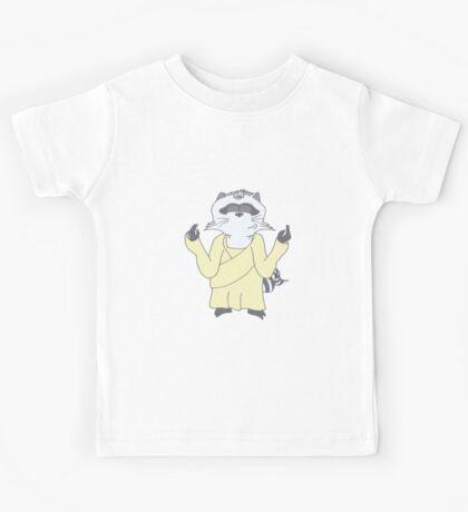 Raccoon God Design Kids Tee