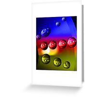 Droplets - 6 (Blue, Red and Yellow) Greeting Card
