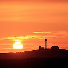 Sunset at Cape Forchu by Debbie  Roberts