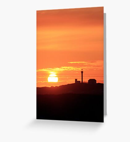 Sunset at Cape Forchu Greeting Card
