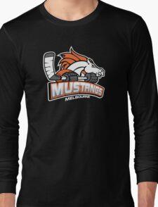 Melbourne Mustangs Classic White Logo Long Sleeve T-Shirt
